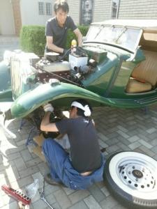 MG-TD ブレーキの修理